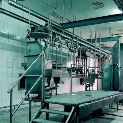 Подносной конвейер для кишок и желудков
