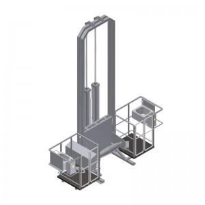 Шкуросъемка пневматическая для КРС с подвижными помостами (производительность 10, 15, 20, 25, 30 штчас)