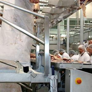 Автоматическая конвейерная линия обвалки мяса