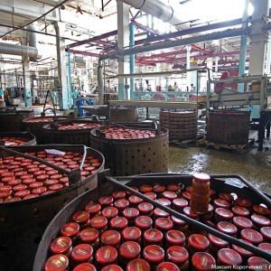 Комплект оборудования для производства тушенки из мяса в стеклянные и жестяные банки (производительность 7000 банок в час)